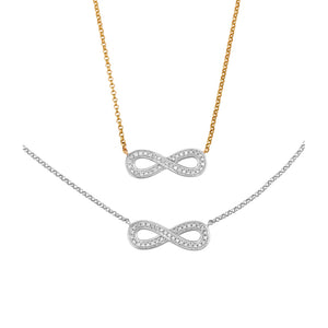 Diamond Infinity Necklace at Wrights Jewellers