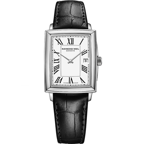 Raymond Weil Art Deco Toccata Watch With Leather Strap