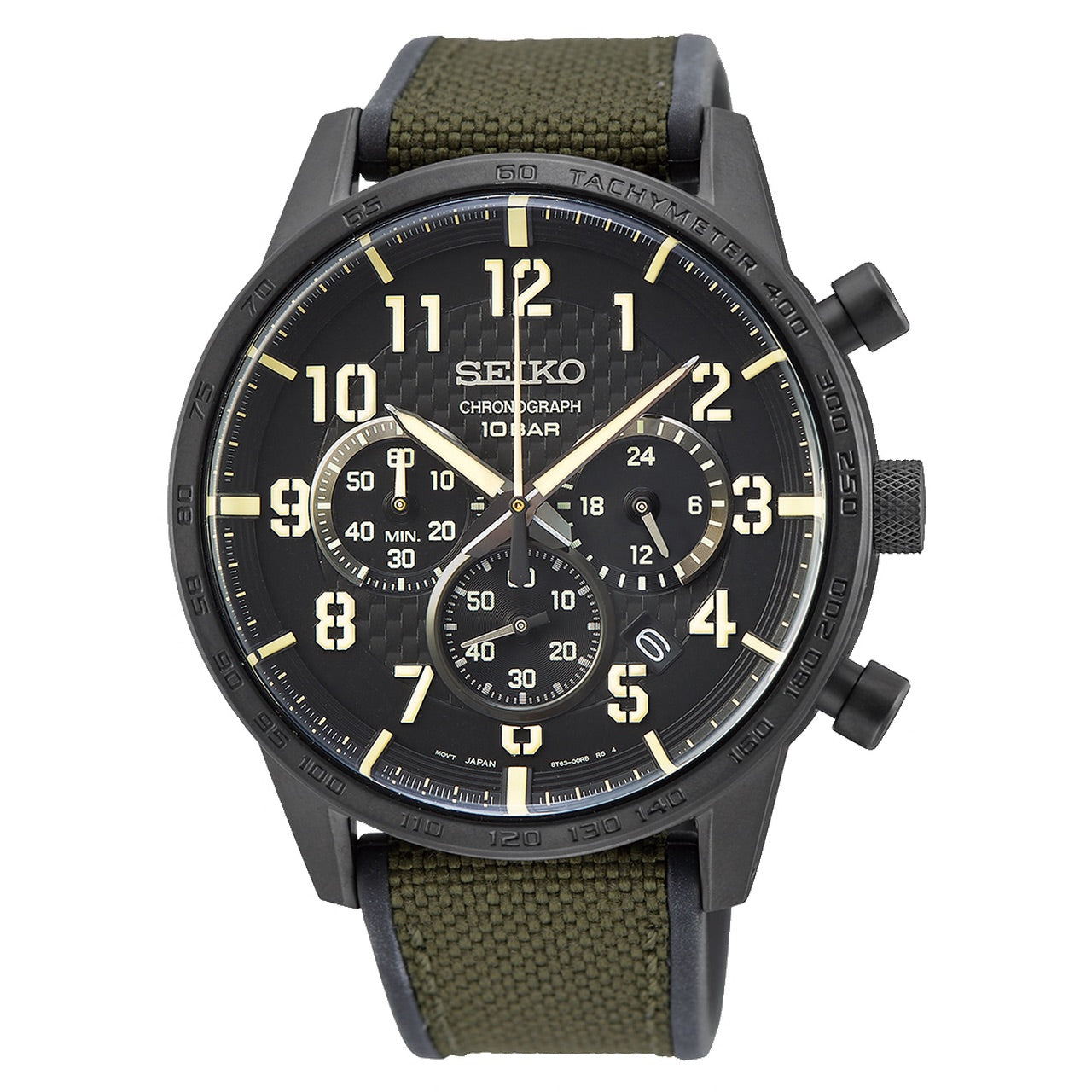 Seiko Chronograph with Canvas Strap