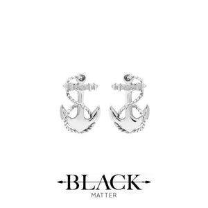 silver anchor stud earrings made in new zealand