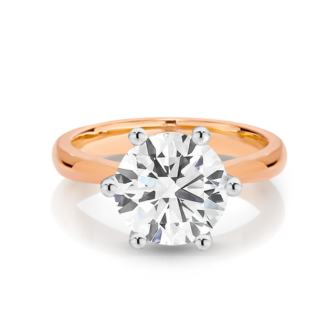 Our Signature Solitaire engagement ring set with a single 1.50ct Diamond.  18ct Rose Gold.