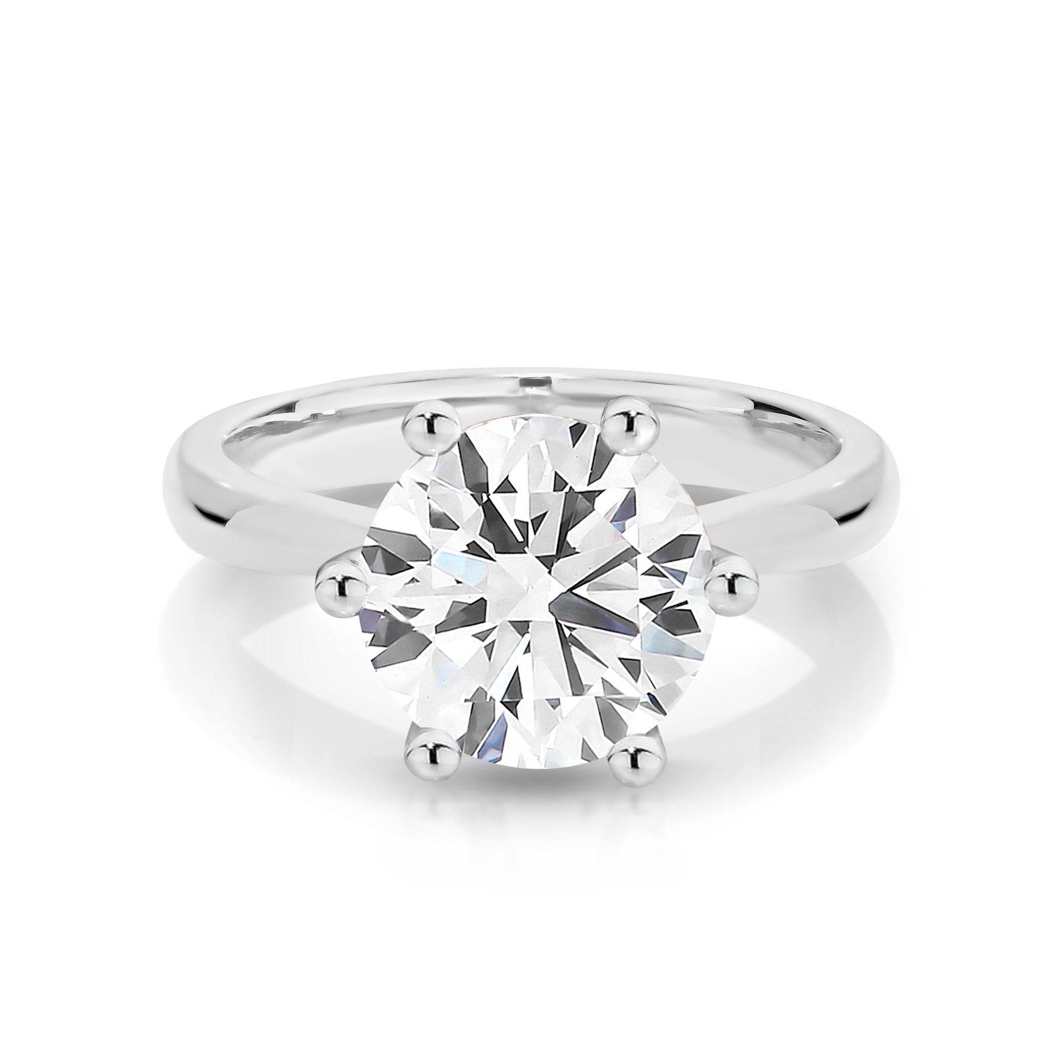 Our Signature Solitaire engagement ring set with a single 1.50ct Diamond.  Your choice of 18ct White Gold or Platinum.