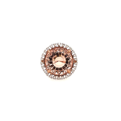 Morganite and Diamond Ring at Wrights Jewellers
