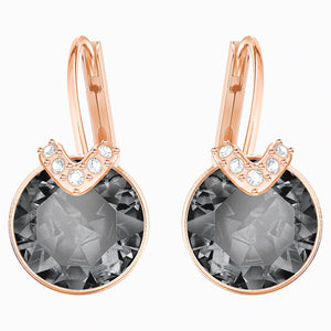 Swarovski Bella Earrings Black and Rose Gold