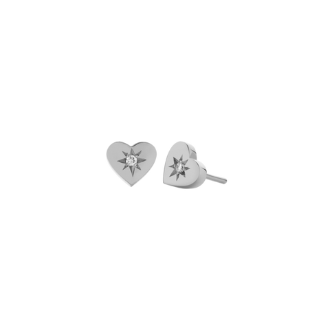MEADOWLARK Diamond Heart Earrings