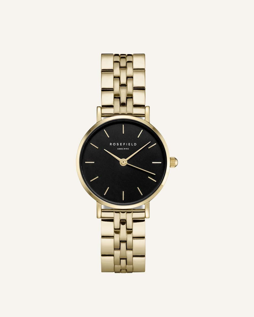 Rosefield The Small Edit gold with black dial
