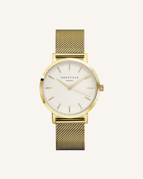 Rosefield The Mercer Yellow Gold Watch