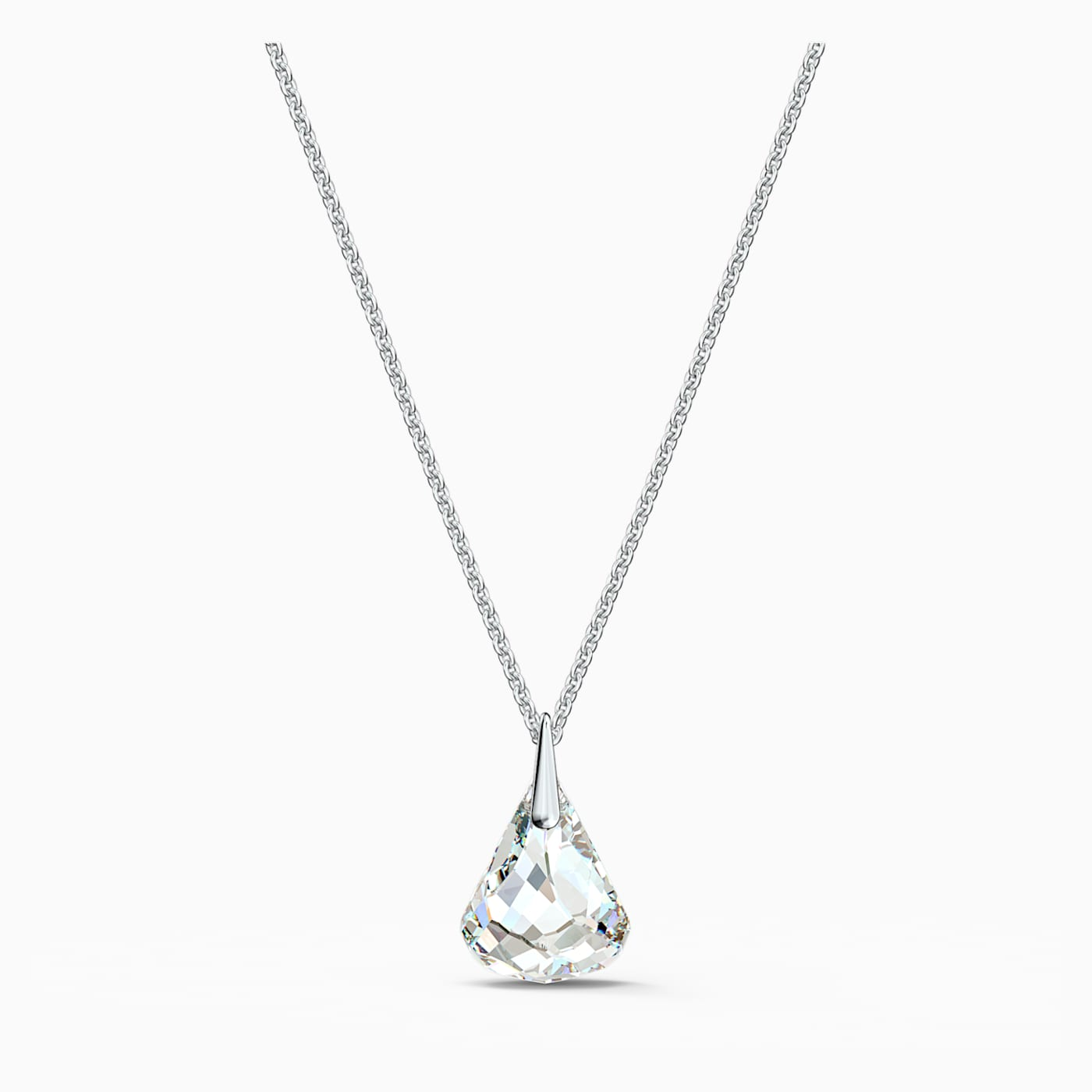 Swarovski Spirit Necklace in Rhodium