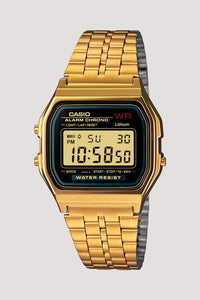 Retro Casio Digital Watch Gold and Black
