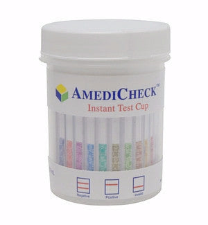12-panel AmediCheck Drug Test Cup Kit | C-C1202A (w/AD Test) - ToxTests