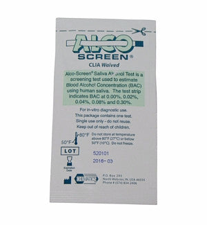Alco-Screen Alcohol Saliva Test Strips | 55001-25 - ToxTests