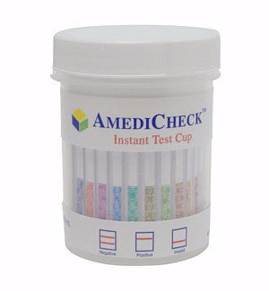 6-panel AmediCheck Drug Test Cup Kit | C-C0601A-3A (w/AD Test) - ToxTests