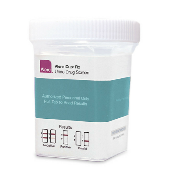 Alere iCup Rx 5 panel Drug Tests (No THC) | I-RXA-157-01 (25/box) - ToxTests