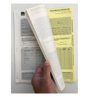 2430P | URINE TEST RESULT FORMS, PAD of 25 (w/ photocopy template)