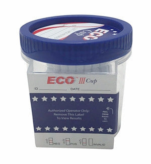 5 panel ECO III Cup Drug Tests | ECOIII-254 (25/box) - ToxTests