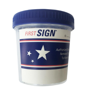 12 Panel First Sign® Drug Test Cup | FSCCUP-9124 W/AD2 (25/box)