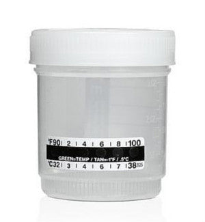(25) Lidded Urine Specimen Collection Cups w/ Temperature Strip | BC1104 - ToxTests