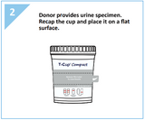 16 panel COMPACT T-Cup Multi-Drug Urine Test | CDOA-9165EFTK (25/box) - ToxTests
