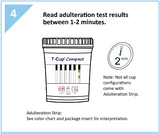 5 panel COMPACT T-Cup Multi-Drug Urine Test | CDOA-254 (25/box) - ToxTests