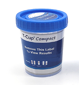 12 panel COMPACT T-Cup Multi-Drug Urine Test | CDOA-6125A3 (25/box) - ToxTests