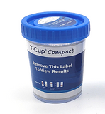 12 panel COMPACT T-Cup Multi-Drug Urine Test | CDOA-9125A3E3F (25/box) - ToxTests