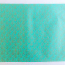 Load image into Gallery viewer, Gatsby Teal Hand Block Printed Gift Wrap