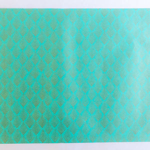 Gatsby Teal Hand Block Printed Gift Wrap