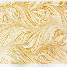 Load image into Gallery viewer, Fountain Waves Golden Fawn Hand Marbled Gift Wrap