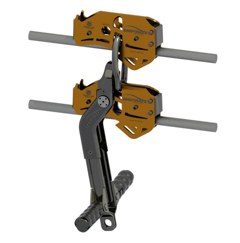 Impact Trolley Double Line W Handle Bars Large on Zip Line Pulley With Brake