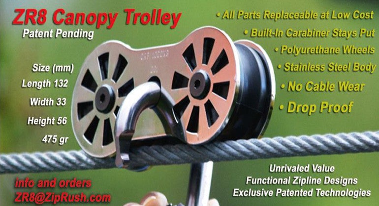 ZR8 Zipline Pulley