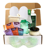 Eucalyptus Spearmint Luxury Spa Gift Baskets for Women - Bubble Bath, Bath Salts, Candle, Lotion + More (Special Edition, 13 pieces)