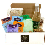 Eucalyptus Spearmint Luxury Spa Gift Baskets for Women - Bubble Bath, Bath Salts, Teas, Sponge + More (Classic Collection, 9 pieces)