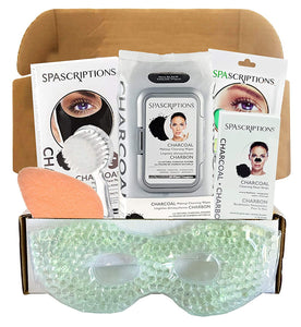 Charcoal Facial Kit For Women For Men - Includes Facial Mask, Face Wipes, Lip Masks, and More