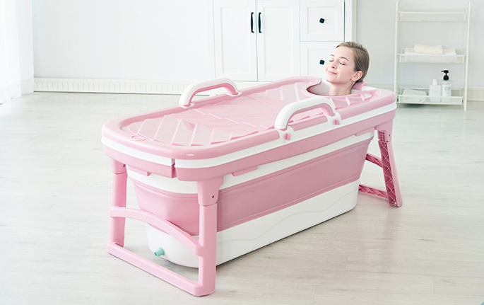 Portable Stand alone Folding Bathtub for Adults - Scodian.com