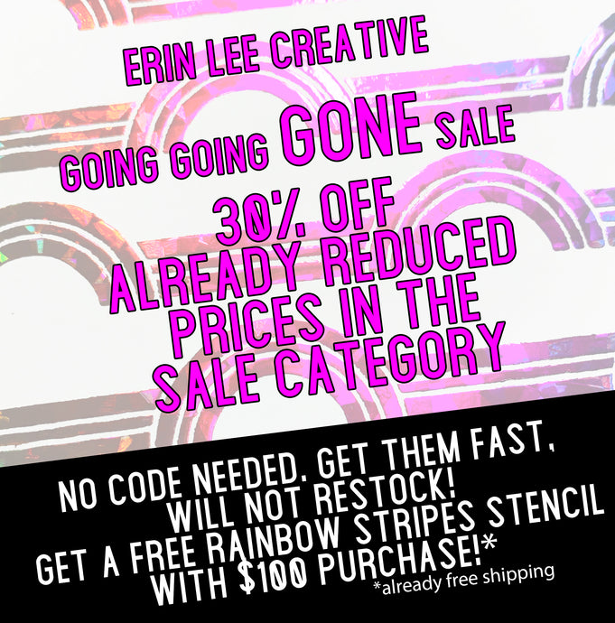 Going, Going, GONE Sale!