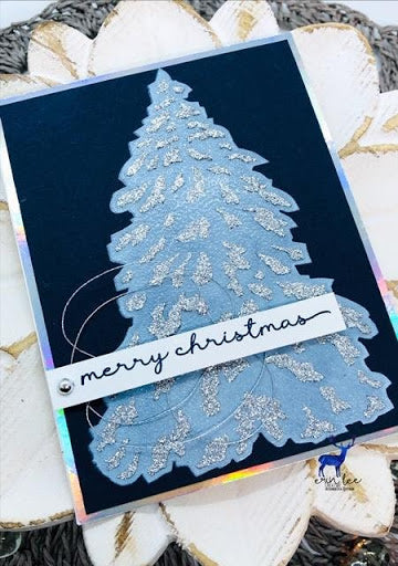 Layered Pine Stencil Cards By Eva