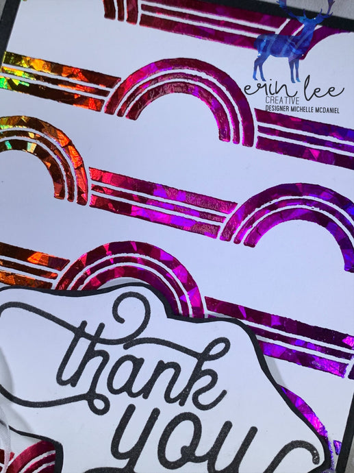 Thank You Card {Stencil Sneak Peek Of Friday Release!} by Michelle