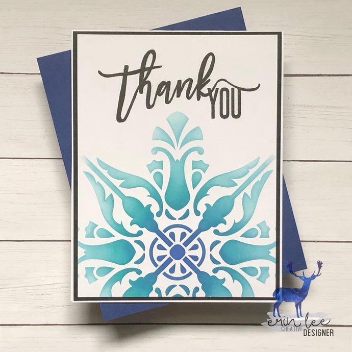 Stained Glass Thank You Card