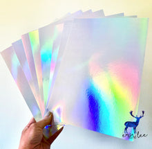 "Load image into Gallery viewer, Holographic 8.5"" x 11"" Cardstock (Set of 8 sheets)"