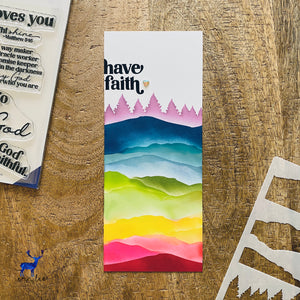 Mountain Scene Builder Stencil