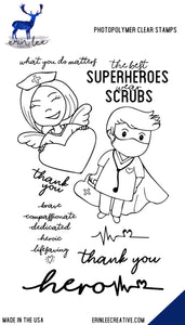 Superhero Scrubs Stamp Set