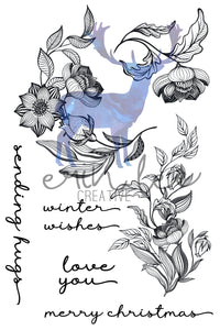 Winter Florals Stamp Set