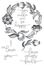 Load image into Gallery viewer, Love Wreath Stamp Set + Coordinating Die