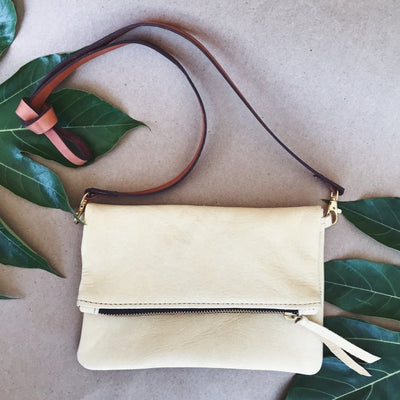 Goat skin Leather small purse handmade by artisans in Haiti from educational programs that provide fair trade, self-independence through generational change