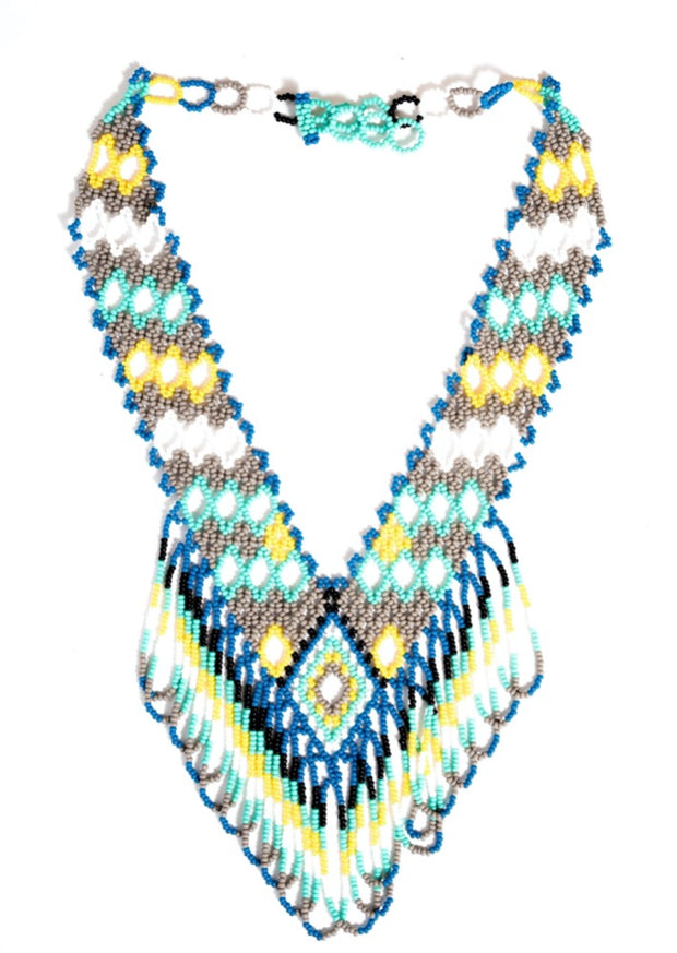 Maya Beaded Rainbow Strand Necklace