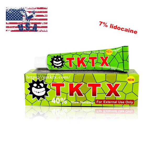 US Shipping New TKTX Cream 7% Lidocaine Green Tattoo Numbing skin Body Art
