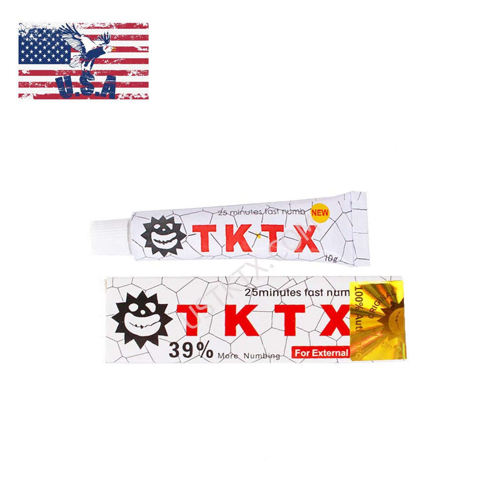 US Shipping White 39% TKTX Numbing Tattoo Body Anesthetic Fast Numb Cream Semi Permanent Skin Body 10g
