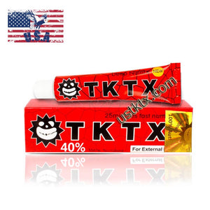 US Shipping Red 40%  TKTX Numbing Tattoo Body Anesthetic Fast Numb Cream Semi Permanent Skin Body 10g