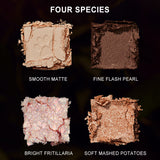 Animal eyeshadow plate Ins super hot koi cat tabby 12 color flash powder pearlite matt bright ground color