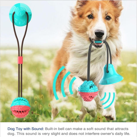 Multifunction Dog Molar Bite Dog Toys Rubber Chew Ball Cleaning Teeth Safe Elasticity TPR Soft Puppy Suction Cup Biting Toy